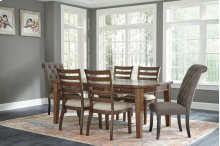 Flynnter - Medium Brown 7 Piece Dining Room Set