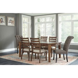 Ashley Furniture Flynnter - Medium Brown 7 Piece Dining Room Set