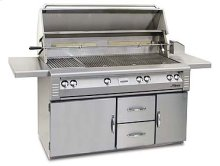 "56"" Jumbo grill on refrigerated cart"