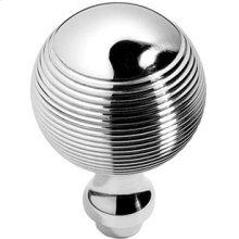 """Antique Brass Unlacquered Contour door knobs pair, 1 3/4"""" diameter"""