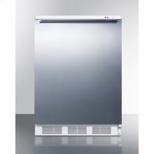 Freestanding Medical All-freezer Capable of -25 C Operation, With Wrapped Stainless Steel Door and Horizontal Handle