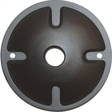 1-Light Mounting Plate - Dark Gray Finish