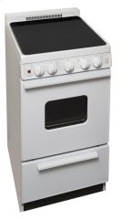 20 in. Freestanding Smooth Top Electric Range in White Product Image
