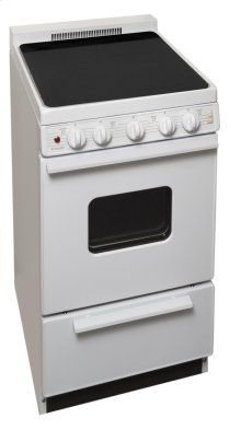 20 in. Freestanding Smooth Top Electric Range in White