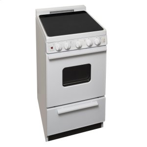 Premier20 in. Freestanding Smooth Top Electric Range in White