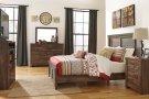 Quinden - Dark Brown 7 Piece Bedroom Set Product Image