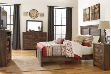 Quinden - Dark Brown 7 Piece Bedroom Set