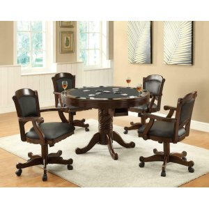 CoasterTurk Casual Game Table and Arm Chair Set