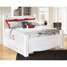 Weeki - White 5 Piece Bed Set (King)
