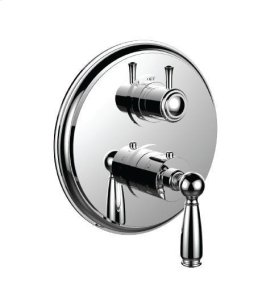 """1/2"""" Thermostatic Trim With Volume Control and 3-way Diverter in Polished Nickel"""