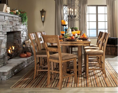 Krinden - Light Brown Set Of 2 Dining Room Barstools