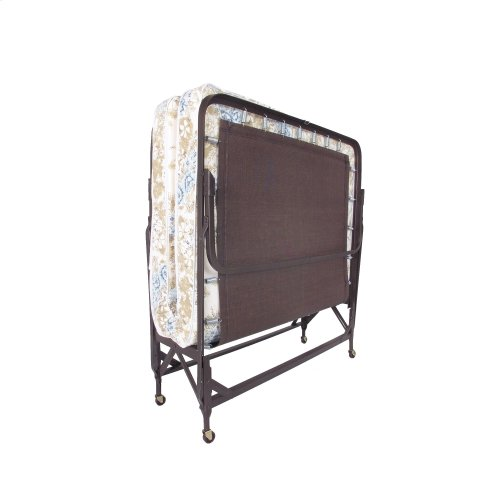 """Deluxe Rollaway 1221P Folding Poly Deck Bed with 39"""" Foam Mattress and Angle Steel Frame, 38"""" x 75"""""""