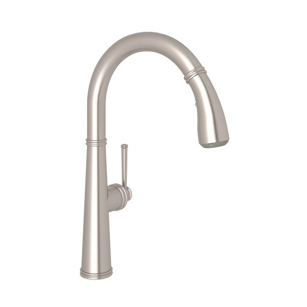 Satin Nickel 1983 Pull-Down Kitchen Faucet with 1983 Metal Lever