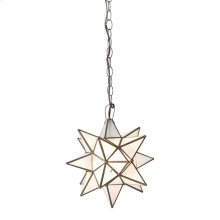 Large Star Chandelier With Frosted Glass