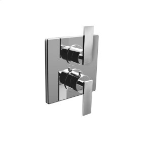"7097em-tm - 1/2"" Thermostatic Trim With Volume Control and 2-way Diverter in Polished Chrome"