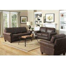 Allingham Traditional Brown Sofa
