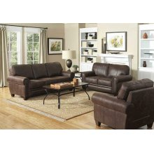 Allingham Traditional Brown Sofa