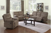 Farrah Coffee Brown Reclining Sofa