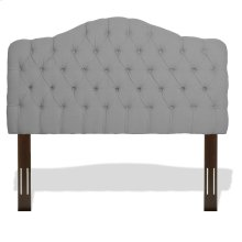 Martinique Button-Tuft Upholstered Headboard with Adjustable Height, Putty Finish, King / California King