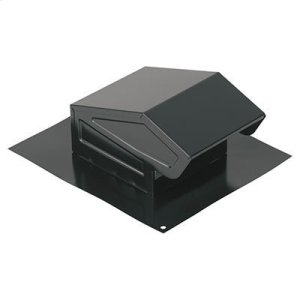 "BroanRoof Cap, Black, 3"" or 4"" Round Duct"