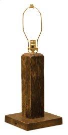 Barnwood Table Lamp - without Lamp Shade Product Image