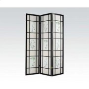 3-panel Black Wood Screen Product Image