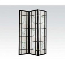 3-panel Black Wood Screen Product Image