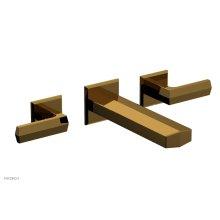 DIAMA Wall Lavatory Set - Lever Handles 184-12 - French Brass