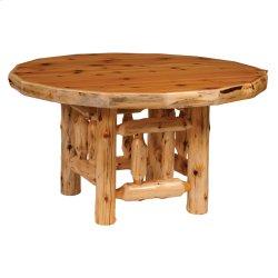 "Cedar Round Log Dining Table - 54"" with Armor Finish"