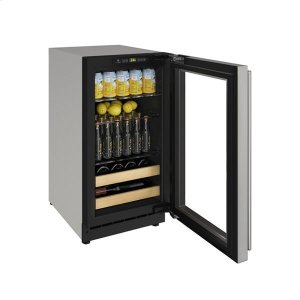 "U-Line18"" Beverage Center With Stainless Frame Finish and Field Reversible Door Swing (115 V/60 Hz Volts /60 Hz Hz)"