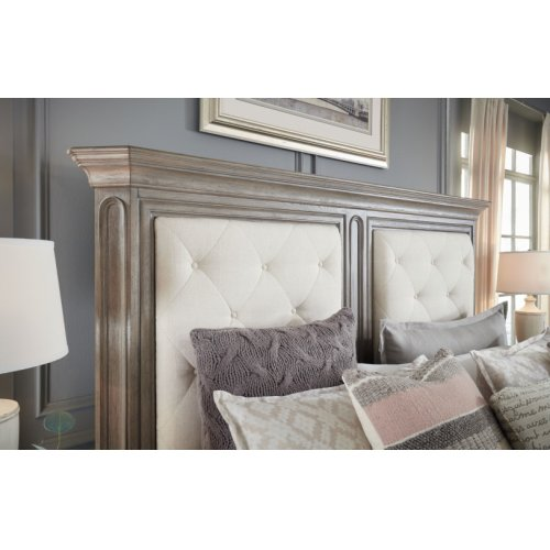 Manor House Upholstered Mansion Bed, King 6/6