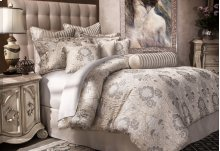 10pc King Comforter Set Silver