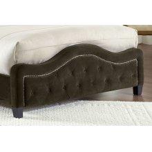 Trieste Fabric Footboard - King - Chocolate