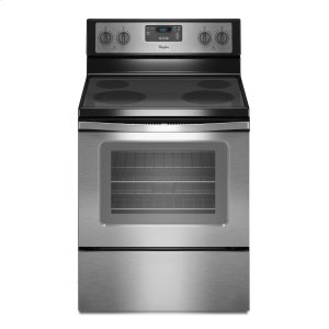 4.8 Cu. Ft. Freestanding Electric Range with FlexHeat Dual Radiant Element Black-on-Stainless -