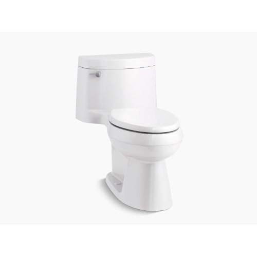 Biscuit Comfort Height One-piece Elongated 1.28 Gpf Toilet With Aquapiston Flush Technology, Left-hand Trip Lever and Concealed Trapway
