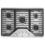 """Ge Profile(tm) 30"""" Built-In Gas Cooktop With 5 Burners And Optional Extra-Large Cast Iron Griddle"""