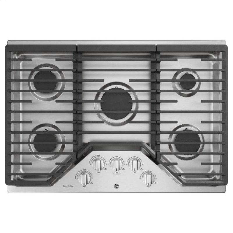 """30"""" Built-In Gas Cooktop with 5 Burners and Optional Extra-Large Cast Iron Griddle"""