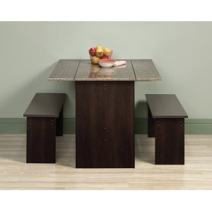 SauderTrestle Table With Benches