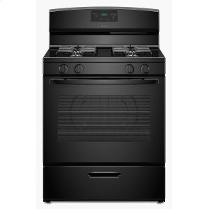 30-inch Gas Range with Easy Touch Electronic Controls Black -