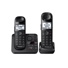 Expandable Cordless Phone with Comfort Shoulder Grip and Answering Machine- 2 Handsets - KX-TGL432B