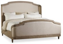 Bedroom Corsica Queen Upholstery Shelter Bed