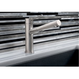 Blanco Alta Compact Pull-out Dual 1.8 - Satin Nickel