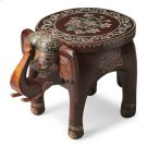 This vibrant accent table will display your passion for the traditional painted artifacts of the Far East. Individually handcrafted from mango wood solids with textured hand painted details, this elephant table symbolizes wisdom, good luck and good fortun Product Image