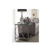 Cinema by Rachael Ray Glass Top End Table Product Image