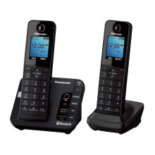 Link2Cell Bluetooth ® Enabled Phone with Answering Machine KX-TGH262B 2 Handsets