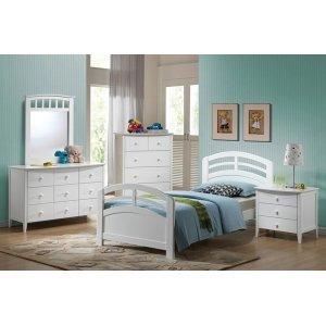 SAN MARINO WHITE TWIN BED HF/R