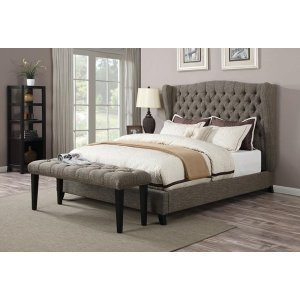 FAYE CHOCOLATE QUEEN BED