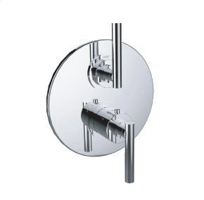 "1/2"" Thermostatic Trim With Volume Control and 2-way Diverter in Standard Pewter"