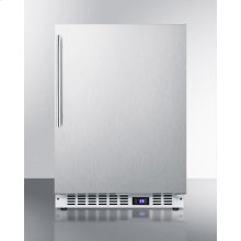 Frost-free Built-in Undercounter All-freezer for Residential or Commercial Use, With Stainless Steel Wrapped Exterior and Thin Handle