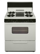 30 in. Freestanding Battery-Generated Spark Ignition Gas Range in Biscuit Product Image